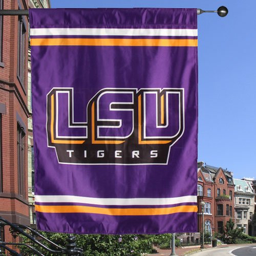 Pole Ncaa Merchandise (NCAA LSU Tigers 34 x 40 Double-Sided House)