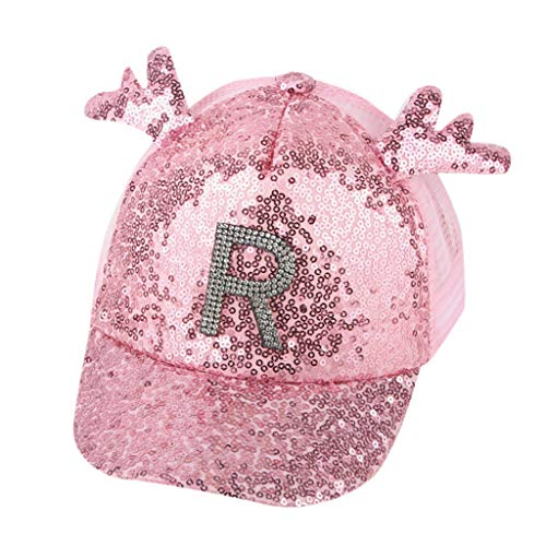 Girl, Parent-child Kids Baseball Cap Paillette Sunhat Soft Summer Fashion ()