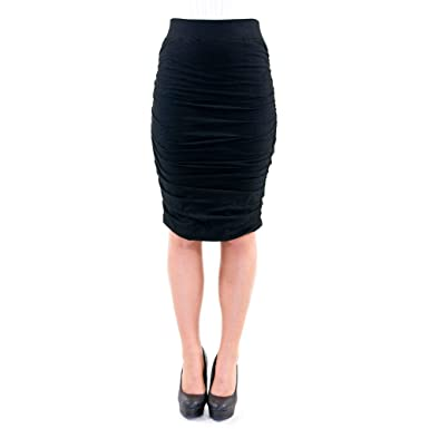 Hard Tail Ruched Pencil Skirt at Amazon Women's Clothing store: