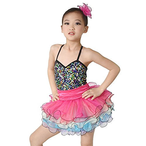 MiDee Camisole Sweetheart Sequins Dance Costume Ballet Tutu Dress (SC, Multi Color) (Dance Costumes For Competition Lyrical)