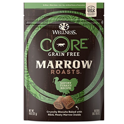Wellness Core Marrow Roasts Natural Grain Free Dog Treats, Turkey, 8-Ounce Bag (Best Dry Dog Food Made In Usa)