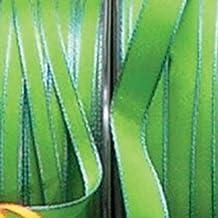 "Lime Green and Sky Blue Taffeta Narrow Wired Edge Ribbon .38"" x 55 Yards"