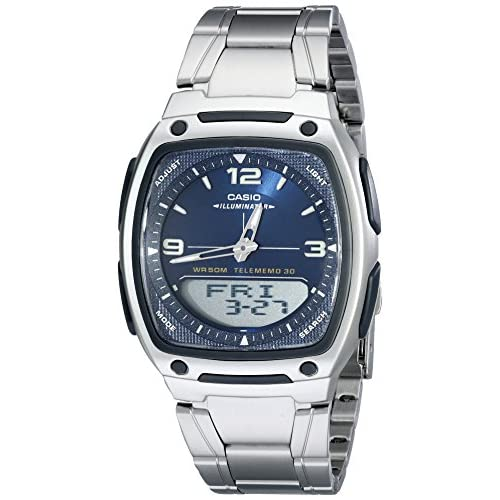 Casio Men's AW81D-2AV Ana-Digi Stainless Steel Watch