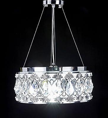 New Legend Chrome Finish Modern Crystal Chandelier, Pendant Hanging or Flush Mount Ceiling Lighting Fixture