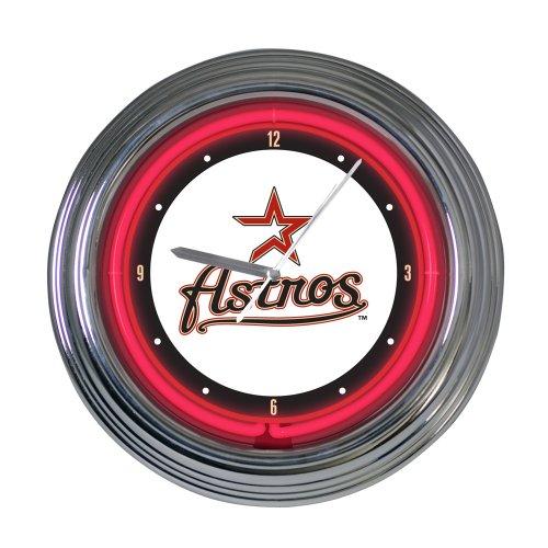 Houston Astros 15 in Neon Clock