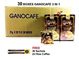 [Super Value] 30 Boxes GanoCafe 3 in 1 Ganoderma Healthy Latte Coffee + Free Zrii Coffee