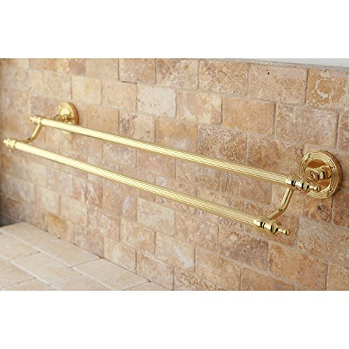 Gold 24 Inch Towel Bar (Kingston Brass Polished Brass 24-inch Double Towel Bar)