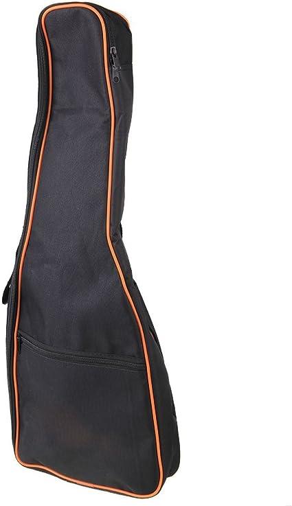 yibuy Negro 600d impermeable para guitarra Big Bag Funda Blanda ...