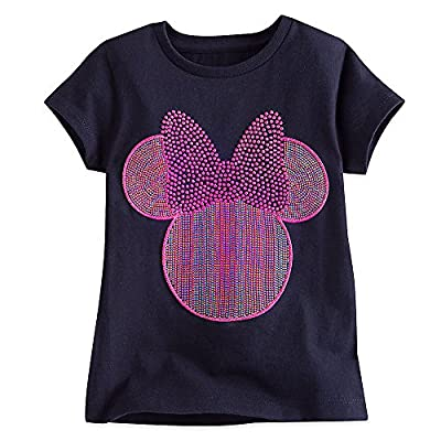 Disney Minnie Mouse Icon Dazzling Tee for Girls Black