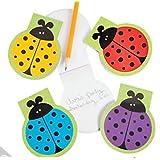 24 Ladybug Notepads - Ladybug Favors Bulk Pack