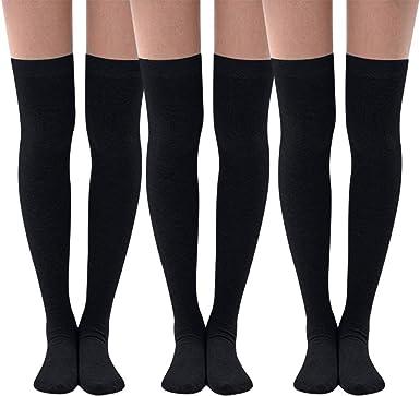 Toamen Calcetín hombre mujer 2019 nuevoCalcetines largos para mujer Medias de muslo a rayas Algodón Sobre los calcetines hasta la rodilla Botas Stock: Amazon.es: Ropa y accesorios