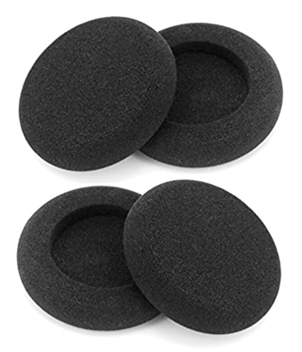Ear Cushions Leatherette Spare Replacement Earpads for Plantronics Supra Plus Encore and Most Standard Size Office Telephone Headsets H251 H251N H261 H261N H351 H351N H361 H361N 20 pcs