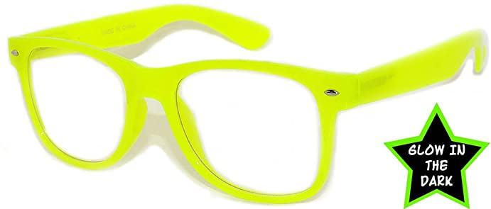 retro 80s vintage yellow frame clear lens sunglasses ladies owl - Yellow Frame Sunglasses