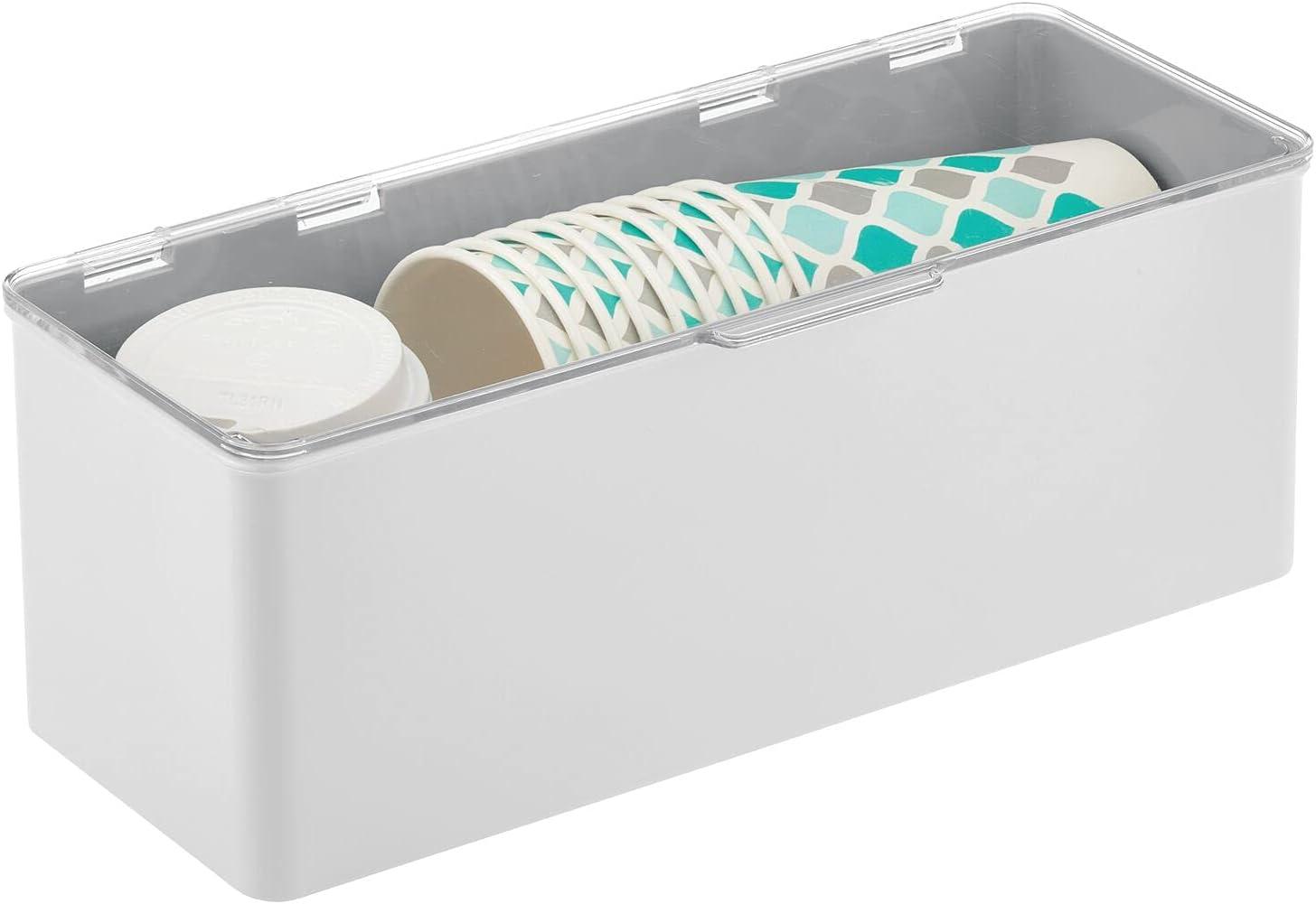 silberfarben und durchsichtig Wattestäbchenbehälter für das ...