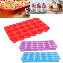 [Free Shipping] 24 Cavity Cake Cookies Pan Mold Chocolate Baking Molds Moulds // 24 cavité moules de cuisson des cookies gâteau pan moule chocolat moules