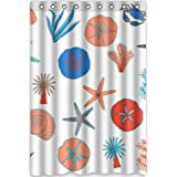 "Top cool Stylish Starfish Conch Shell 48""(Width) x 72""(Height) Starfish Conch Shell 100% Polyester Bathroom Shower"