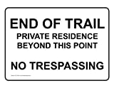 ComplianceSigns Aluminum No Trespassing Sign, 14 x 10 in. with English, White