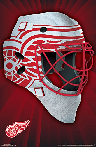 Trends International Detroit Red Wings Mask Wall Poster 22.375
