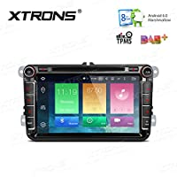 XTRONS 8 Inch Octa-Core Android 6.0 HD Capacitive Touch Screen Car Stereo Radio DVD Player GPS CANbus OBD2 Tire Pressure Monitoring for Wolkswagen Seat Skoda