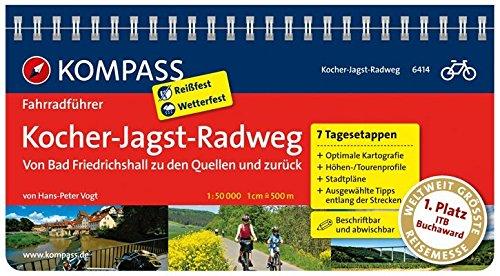 Kocher-Jagst-Radweg - Von Bad Friedrichshall zu den Quellen und zurück: Fahrradführer mit Routenkarten im optimalen Maßstab. (KOMPASS-Fahrradführer, Band 6414)