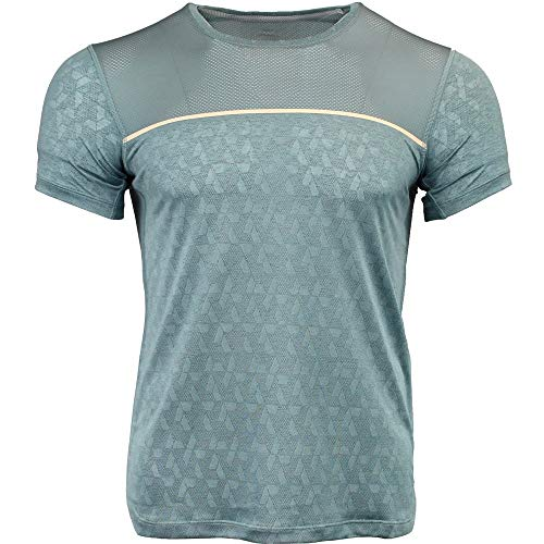 ASICS Men' Gel-Cool Short Sleeve Top, Stormy Sea, Large