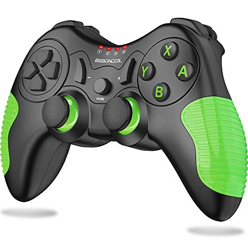 BEBONCOOL Controller for Nintendo Switch/Switch Lite,Switch Pro Controller Support Adjustable Vibration for Nintendo Switch Controller,Wireless Switch Controller with Motion Control (Green)