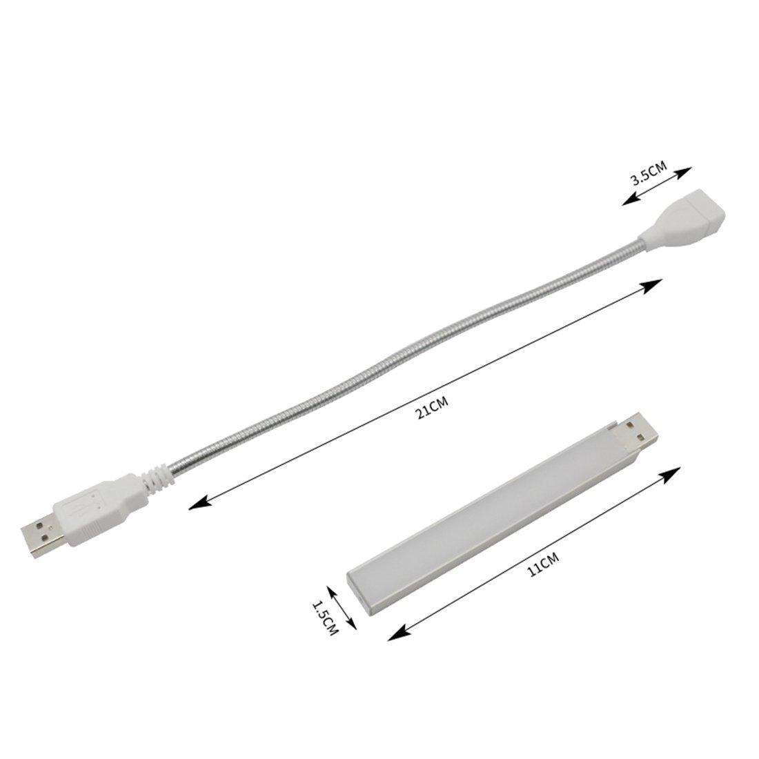 Alimentation USB LEDIARY 3/W Portable de Croissance LED /à 360//° avec col de Cygne Flexible pour lint/érieur Plantes Serre
