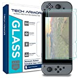 Tech Armor Nintendo Switch HD Clear Ballistic Glass Screen Protector [2-Pack] - 99.99% Clarity and Touchscreen Accuracy