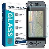 Tech Armor Nintendo Switch HD Clear Ballistic Glass Screen Protector [2-Pack] - 99.99% Clarity Touchscreen Accuracy