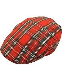 Men's Scottish Tartan Flat Cap in 2 Colours & Sizes
