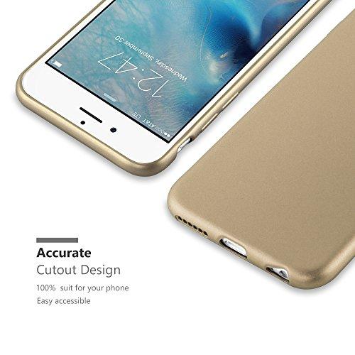Cadorabo - Cubierta Protectora para Apple iPhone 6 / 6S de Silicona TPU con Efecto Metálico Mate