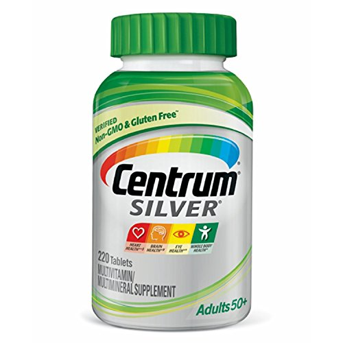 Centrum Silver Adult (220 Count) Multivitamin / Multimineral Supplement Tablet, Vitamin D3, Age -