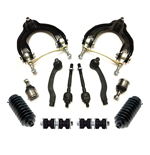 PartsW 12 Pc Steering Suspension Kit for Acura Integra Honda Civic & Civic del Sol Inner & Outer Tie Rod Ends Control Arms Sway Bar End Links Lower Ball Joints Rack and Pinion Bellow Boots