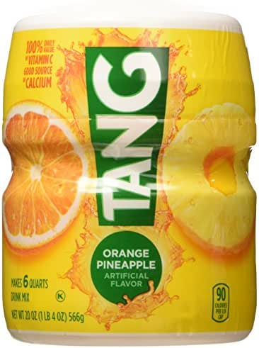 Tang, Orange Pineapple, Powdered Drink Mix, 20oz Container (Pack of 2)