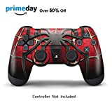 Skins for PS4 Controller - Decals for Playstation 4 Games - Stickers Cover for PS4 Slim Sony Play Station Four Controllers PS4 Pro Accessories PS4 Remote Wireless Dualshock 4 Skin - Widow Spider