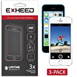 EXHEED® iPhone 5 / iPhone 5C / iPhone 5S Screen Protector - High Quality Ultra Clear High Definition (HD) (3-Pack with Lifetime Warranty - USA Seller) (HD Clear)