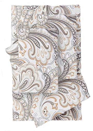 (Hotel Collection Brushed Microfiber 4-Piece Sheet Set, Paisley Design (Queen))