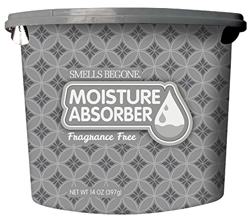 SMELLS BEGONE Odor Eliminator & Moisture Absorber - Absorbs Moisture in Closets, Basements, Boats, RVs, Gym Lockers and Bathrooms - 14 Ounces (Fragrance Free)