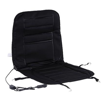 Coche Cojín de asiento calefactable, XGZ negro 12 V asiento ...