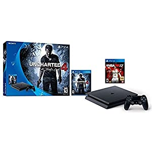 Sony PlayStation 4 500GB Console - Uncharted 4 Limited Edition and NBA2K17 Bundle