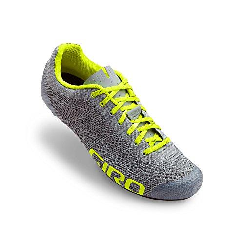 Giro Scarpe Road Empire E70 Knit, Grey Heather/Hi-Yellow
