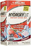 Hydroxycut Pro Clinical Instant Drink Mix Packets - Wildberry - 1.78 oz - 21 ct