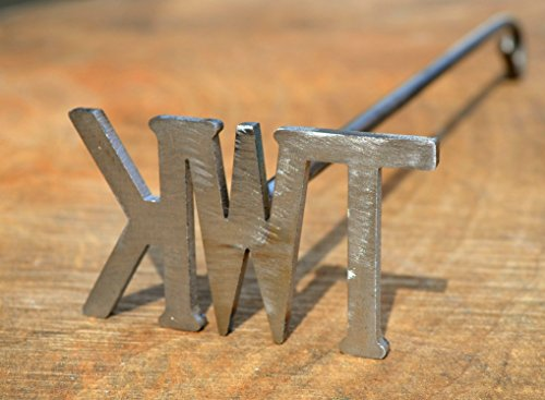 Initial Branding Iron, Custom Order, Choose 2 or 3 Initials
