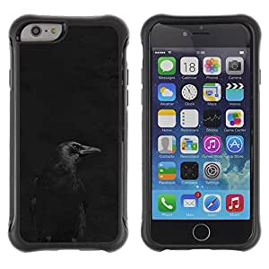 SHIMIN CAO@ Crow Black Night Minimalist Peak Dark Rugged Hybrid Armor Slim Protection Case Cover Shell For iPhone 6 Plus CASE Cover ,iphone 6 5.5 case,iPhone 6 Plus cover ,Cases for iPhone 6 Plus 5.5