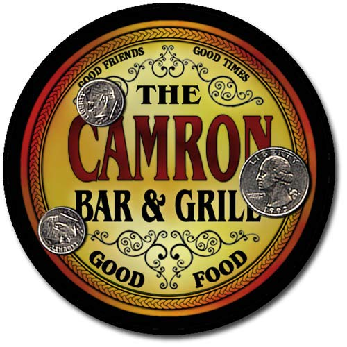 ZuWEE Brand Bar and Grill Coaster Set Personalized with the Camron Family Name