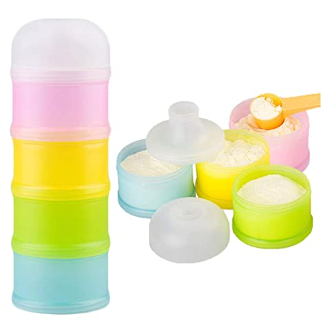 Griptight Milk Powder Formula 4 Compartment BPA Free Dispenser