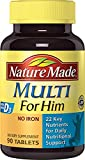Nature Made Multi For Him 90 Tablets (Pack of 3)