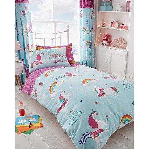 - T&A Textiles and Hosiery Ltd Unicorn Clouds 2 Piece UK Single/US Twin Sheet Set, 1 x Double Sided Sheet 1 x Pillowcase