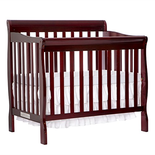 Dream On Me 4 in 1 Aden Convertible Mini Crib, Cherry from Dream On Me