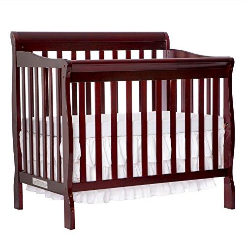 Dream On Me 4 in 1 Aden Convertible Mini Crib, Cherry Red Convertible Crib